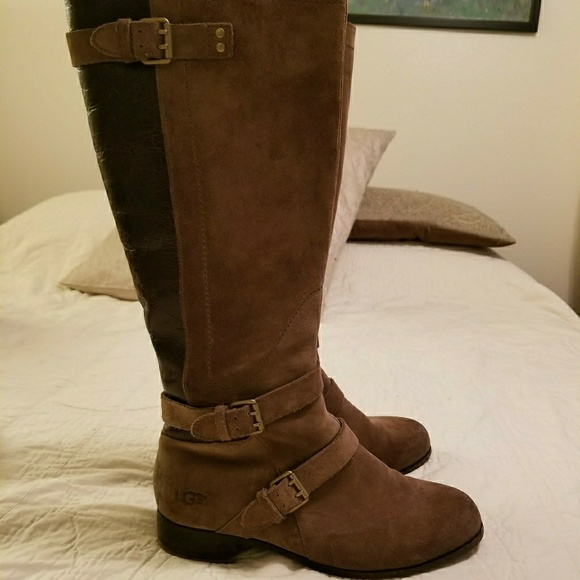 3a8a99097a0 UGG Cyndee Riding Boots Suede and Leather size 9
